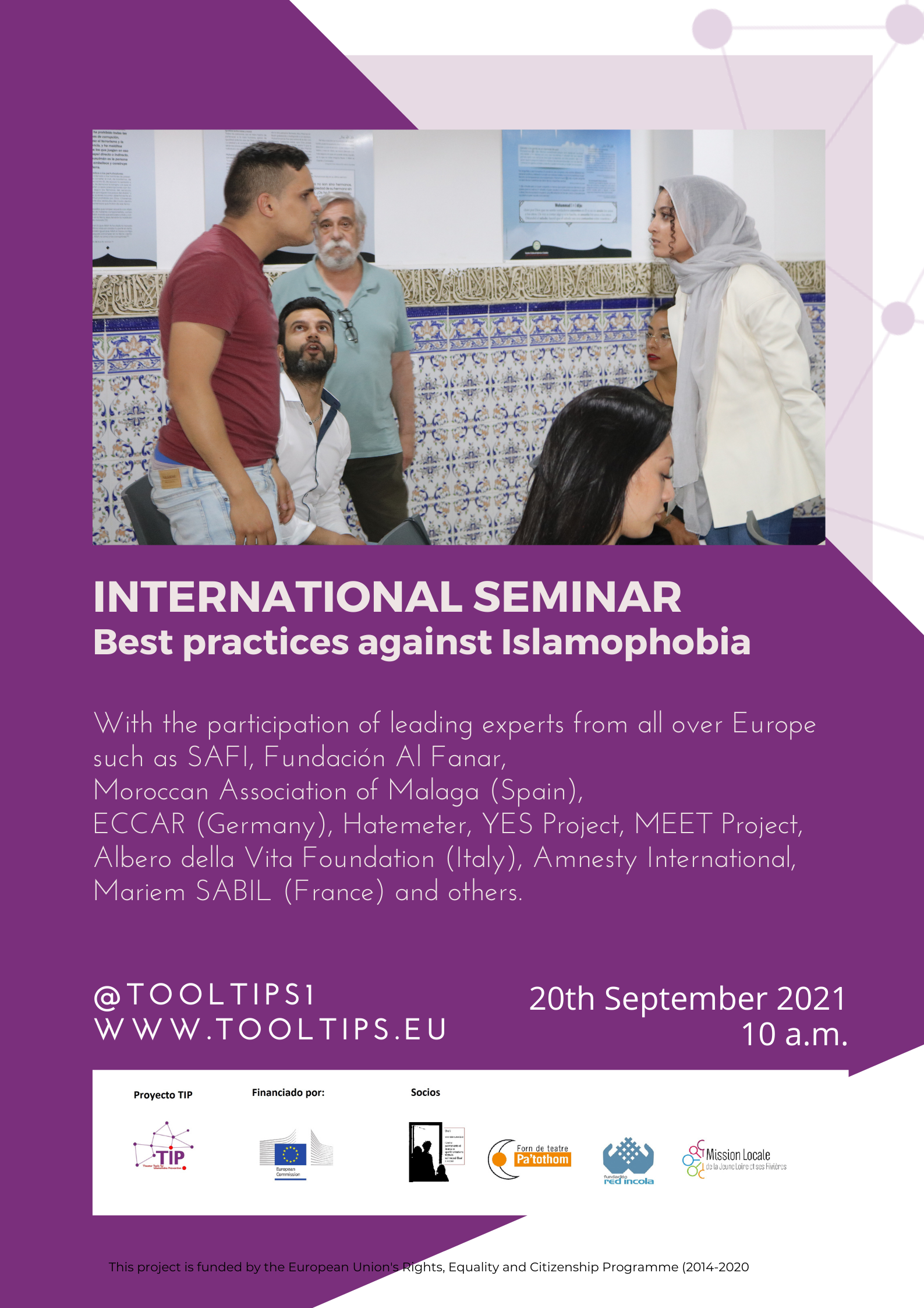 Forn de teatre Pa'tothom. International Seminar best practices against islamophobia
